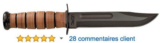 Kabar-1217-USMC-Fighter-Plain-Couteau-Noir-