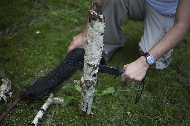 21 Test couteau de combat Ontario Marine Raider