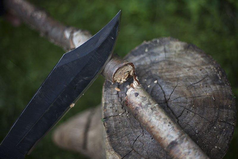 9 Test couteau de combat Ontario Marine Raider